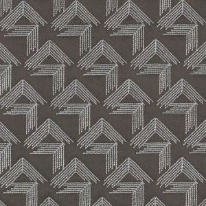 Schumacher V Step Charcoal Fabric