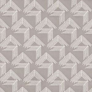 Schumacher V Step Pale Grey Fabric