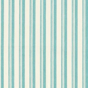 Schumacher Capri Aqua White Fabric