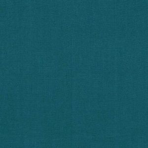 Schumacher Piet Performance Linen Deep Teal Fabric