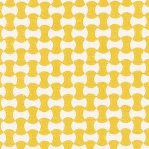Schumacher Nolita Embroidery Yellow Fabric