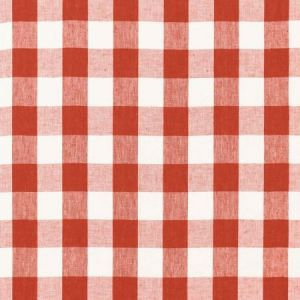 Schumacher Key West Check Persimmon 68012 Fabric