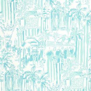 Lee Jofa La Via Loca Pool Blue P2016101-13 Wallpaper