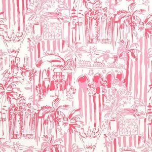 Lee Jofa La Via Loca Hotty Pink P2016101-17 Wallpaper