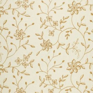 Schumacher Georgia Linen Embroidery Sand 3491001 Fabric