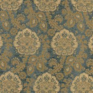 Schumacher Sanderling Paisley Aegean 62161 Fabric