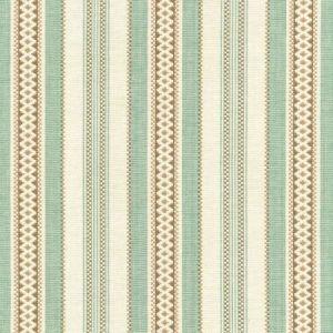 Schumacher Wiltshire Stripe Aqua 62500 Fabric