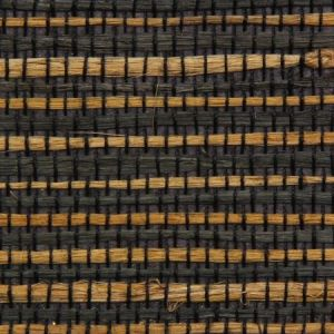 Astek ED149 Grasscloth Black and Tan Jute Wallpaper