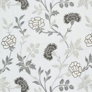 Schumacher Sheridan Linen Embroidery Grisaille 65663 Fabric
