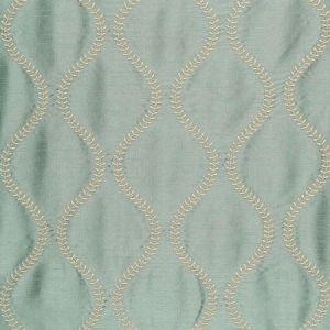 Schumacher Agadir Embroidery Aqua 65753 Fabric