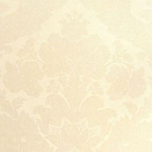 Schumacher Rufina Damask Ivory 55572 Fabric
