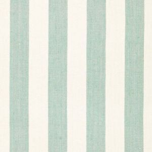 66070 Augustin Linen Stripe Sea Glass Ivory Schumacher Fabric
