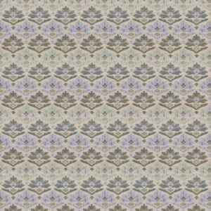 7629501 GAMBA DAMASK Delphinium 01 Stroheim Fabric