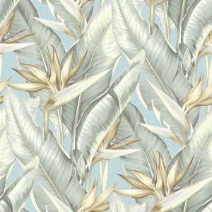 PS40202 ARCADIA Blueberry Banana Leaf Brewster Wallpaper