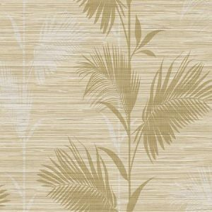 PS40305 AWAY ON HOLIDAY Beige Palm Brewster Wallpaper