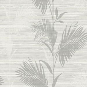 PS40310 AWAY ON HOLIDAY Grey Palm Brewster Wallpaper