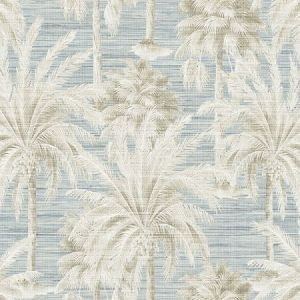 PS40002 DREAM OF PALM Trees Blue Texture Brewster Wallpaper