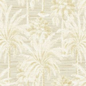 PS40003 DREAM OF PALM Trees Beige Texture Brewster Wallpaper