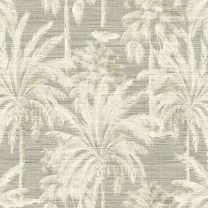 PS40006 DREAM OF PALM Trees Grey Texture Brewster Wallpaper