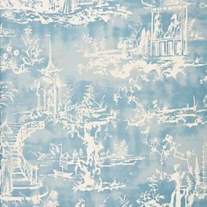 SC 0001165 SUMMER PALACE Sky Scalamandre Fabric