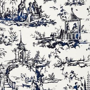 SC 0002165 SUMMER PALACE Porcelain Scalamandre Fabric