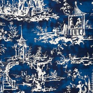 SC 0003165 SUMMER PALACE Indigo Scalamandre Fabric