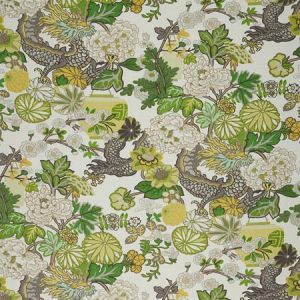 173279 CHIANG MAI DRAGON Citrus Schumacher Fabric