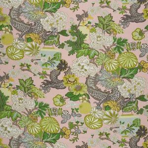 173280 CHIANG MAI DRAGON Blush Schumacher Fabric