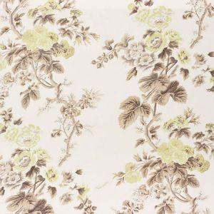 174455 PYNE HOLLYHOCK Green Tea Schumacher Fabric
