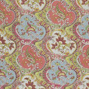 175550 PICKFAIR PAISLEY Multi Schumacher Fabric