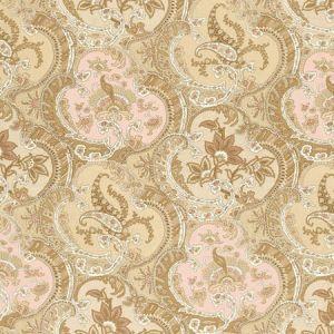 175552 PICKFAIR PAISLEY Camel Schumacher Fabric