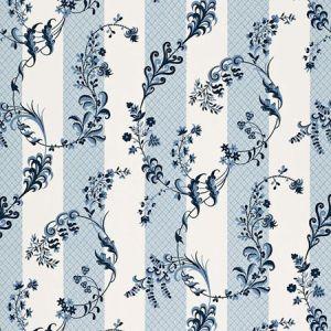 175590 BAGATELLE Bleu Marine Schumacher Fabric