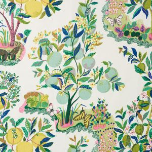 175762 CITRUS GARDEN Lime Schumacher Fabric