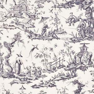 175806 SHENGYOU TOILE Black Schumacher Fabric