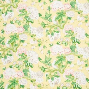 175878 BERMUDA BLOSSOMS Yellow Schumacher Fabric