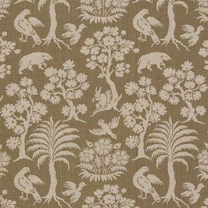 176172 WOODLAND SILHOUETTE Mocha Schumacher Fabric