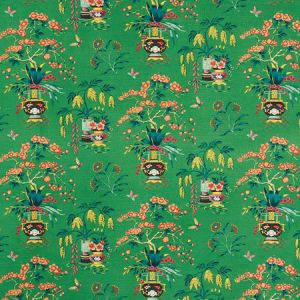 176731 MING VASE Jade Schumacher Fabric