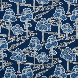 176741 TREE RIVER Blue Schumacher Fabric