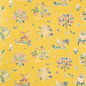 176751 MAGICAL MENAGERIE Yellow Schumacher Fabric