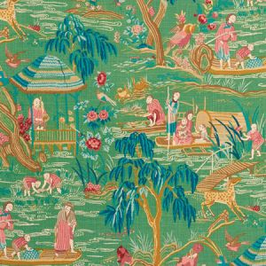 176770 YANGTZE RIVER Jade Schumacher Fabric