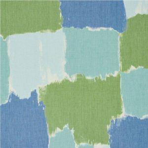 178470 COLORBLOCK IKAT Aqua Schumacher Fabric