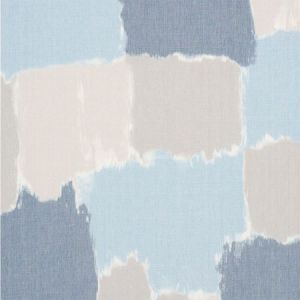 178471 COLORBLOCK IKAT Denim Schumacher Fabric