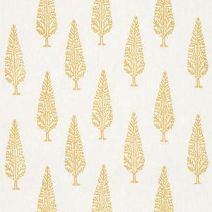 178512 JUNIPER BLOCK PRINT Yellow Schumacher Fabric