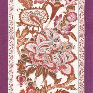 178523 ANJOU STRIPE Rose Schumacher Fabric