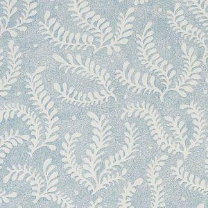 178531 ETCHED FERN Blue Schumacher Fabric