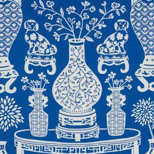 178550 HELLENE Blue Schumacher Fabric