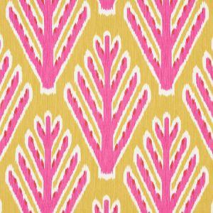 178560 BODHI TREE Yellow Pink Schumacher Fabric