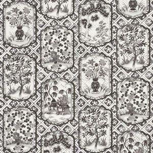 178570 TING TING Black Schumacher Fabric