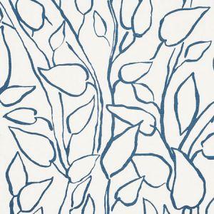 178700 SOLANDRA VINE Blue Schumacher Fabric