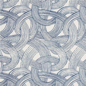 178710 FREEFORM Blue Schumacher Fabric
